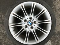 "OEM BMW 3 SERIES E46 SPYDER STYLE 135 MV2 18"" FRONT ALLOY WHEEL & TYRE 7896470"