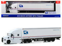 "2019 Mack Anthem Tractor-Trailer ""USPS"" 1/64 Diecast Model by Greenlight"