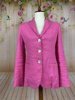 Ralph Lauren Black Label Women's Pink Linen Blazer Jacket Size 6