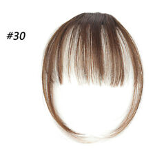 Clip in Bangs Hair Hairpiece Extension False Hair Piece Clip on Front Neat Bang