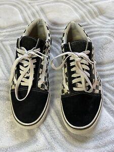 Vans Old Skool Black Checkered Sneakers Mens Size 11.5