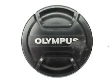 #2 Olympus 62mm LC-62B Black / Silver Snap On Front Camera Lens Cap (Damaged)