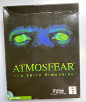 Atmosfear - The Third Dimension for PC CD-ROM in Big Box ,1995 RARE Microsoft