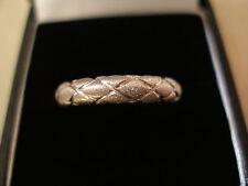 9 CARAT WHITE GOLD 4MM HEAVY D SHAPE WEDDING / DRESS RING MADE BY B & N BNIB
