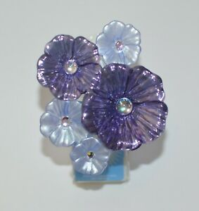 BATH & BODY WORKS PURPLE FLOWERS NIGHTLIGHT WALLFLOWER FRAGRANCE PLUG IN HOLDER
