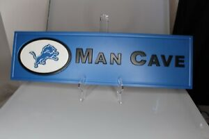 Detroit Lions man cave wall plaque 23 4/16 by 6 11/16