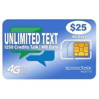 Unlimited Text SIM Card | 2G 3G 4G LTE Nationwide - 60 Day Wireless Service