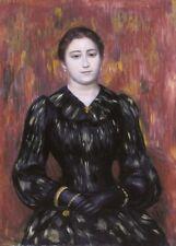 Portrait of Mme. Paulin, 1885-90, PIERRE-AUGUSTE RENOIR Impressionism Art Poster