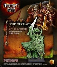 Warhammer Avatars of War Lord Of Chaos with Sword & Shield Nuevo metal New