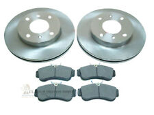 FOR NISSAN ALMERA N16 00-06 1.5 1.8 FRONT 2 BRAKE DISCS & MINTEX PADS NO ABS