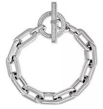 NWT Michael Kors MKJ4864040 Chain Link Silver Tone Toggle Bracelet MKJ4864 $145