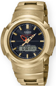Casio G-Shock Stainless Steel AWM500GD-9A Gold Analog-Digita Multi-Band 6 Solar