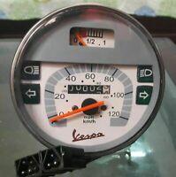 New Speedometer / Tacho Vespa LML PX Lusso 80,125,150,200, 120Kmh / 80 MPH GREY
