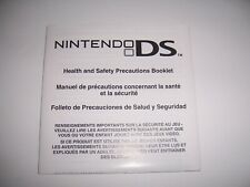 Officlal Nintendo DS Heath and Safety Precaution Booklet Book