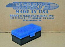 38 / 357 Plastic Storage Ammo Boxes (Blue / Black) Berry'S Mfg Buy 3 Get 1 Free