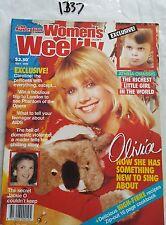 WOMENS WEEKLY 1989 MAY,OLIVIA NEWTON JOHN COVER