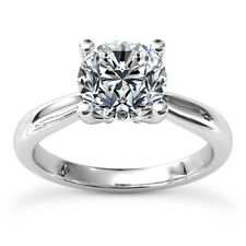 1/3 Carat Round Cut Diamond Ring Solitaire Engagement White Gold VS2 D