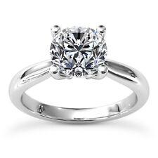3/4 Carat Round Cut Diamond Ring Solitaire Engagement White Gold 14k