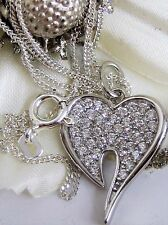 Collier Herz Anhänger mit Halskette 925 Sterling Silber Liebe Zirkonia Kette