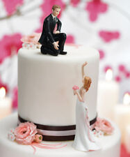 Reaching Bride Helping Hand Funny Wedding Cake Topper