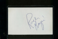 ROGER CROZIER SIGNED 3x5 INDEX CARD (D.1996) RARE AUTOGRAPH REDWINGS/SABRES NHL