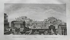 1836:RESTAURAZ.FORO ROMANO.ROMA.ACCIAIO AUDOT.mm200X120