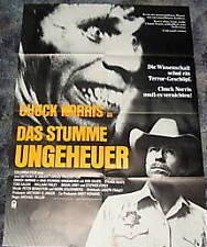 Chuck Norros DAS STUMME UNGEHEUER Horror Plakat
