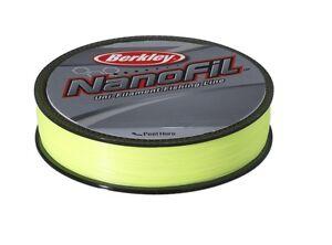 BERKLEY NANOFIL YELLOW (Hi-Vis) - 270m Spools - All Sizes