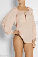 MELISSA ODABASH Pink Embroidered Voile Cover Up Beach Dress Kaftan Bikini BNWT