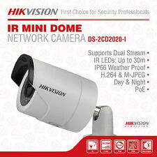 SALE! 8 Hikvision DS-2CD2020-I Mini IP Network Bullet Camera, HD 2MP, 4mm Lens