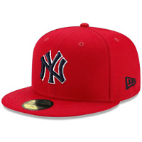 New York Yankees New Era MLB Scarlet Pop 59FIFTY Fitted Hat - Red
