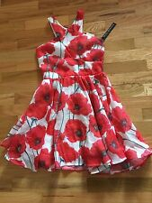 NWT MISS BEHAVE GIRLS FLORAL DRESS 14