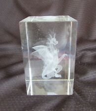 DRAGON  Laser 3D Etched Crystal Ornament Gift