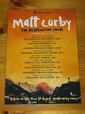 MATT CORBY - 2013 RESOLUTION Australian Tour - Laminated Promotional Poster
