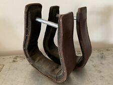 Vintage Leather Horse Stirrups