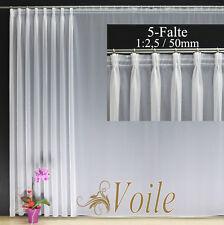 Hochwertige Fertiggardine VOILE Store Faltenband&Bleiband 1:2,5 / 50 mm