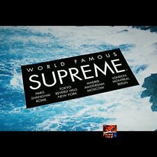 Supreme International Logo Sticker BLACK Brand New RARE CDG PCL Camo Leopard