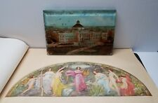 "1902 Library Of Congress Mural Paintings & Reverse Painted Glass ""From Capitol"""