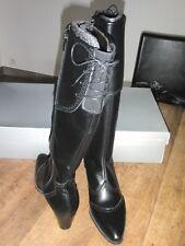 NAVARRO bottes cuir noir NEUVES Talon 5cm Valeur 220E Pointures 40
