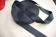 HOLDEN, FORD, VALIANT, VOLKSWAGON etc. BLACK SEATBELT WEBBING AUSTRALIAN MADE