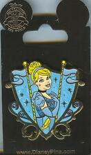 "Disney Pins Princess Jeweled Crest ""Cinderella"" Pin Mint on Card!"