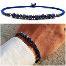 Bracciale uomo pietre dure in pietra con diaspro blu braccialetto da naturale