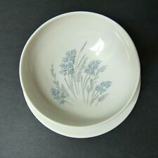 Syracuse Carefree China Gravy Boat Blue Grass w/Attached Under Plate Vintage USA