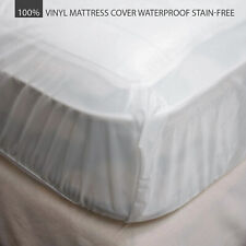 Vinyl Mattress Cover Protector 100% Waterproof Heavy Duty For All Bed Sizes