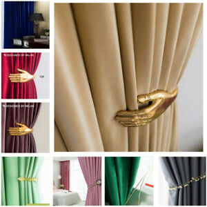 Premium Room Darkening 80% Blockout Velvet Fabric Eyelet | Pleated Top Curtains