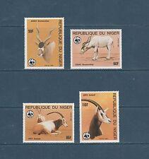 Niger   faune animaux en voie d' extinction  WWF    1985  num:  674/77  **