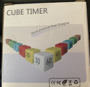 Cube Timer 1 3 5 and 10 Minutes for Time Management White Kitchen Timer
