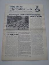 INFORMAZIONI DI INDO-CINESE n° 5 COMUNISMO GIORNALE POLITICO GERMANY 1975