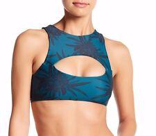 NEW MIKOH 'Marrakesh' Crop Bikini Top Size XS Protea Midnight $112
