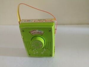 Music Box Pocket Radio Fisher Price 768 Happy Birthday Works